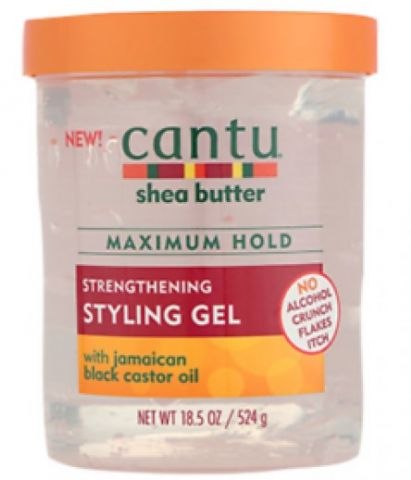 Cantu Shea Butter Strengthening Styling Gel With Jamaican Black Castor Oil, 18.5oz (524g)